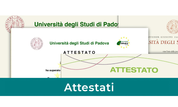 Attestati Master in Gestione Ambientale Strategica